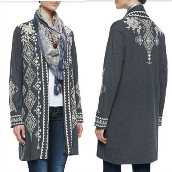 Johnny Was Sweaters - Johnny Was Tulia Embroidered Duster Cardigan